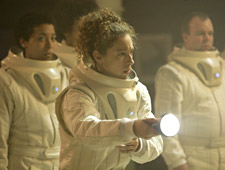 Alex Kingston guest stars as Professor River Song