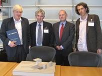 Boris Johnson meets campaginers and the architect