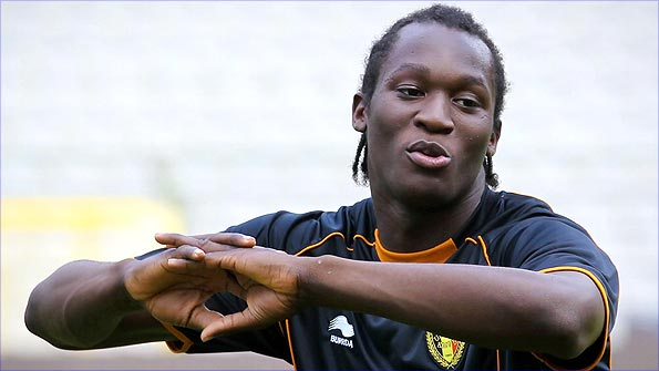 Lukaku's physical attributes have seen him compared to Didier Drogba. Pic: Getty Images.
