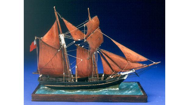 "Model of the schooner ""Scottish Maid"" built by Captain John Smith. ©  Aberdeen Art Gallery & Museums Collections"
