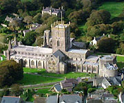 Aerial picture of St David's Cathedral