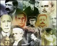 Montage of faces from this period of Irish history