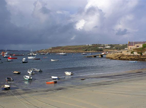 Town Beach & lifeboat house, St Mary's