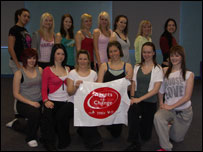 Batley Bulldogs cheerleading squad