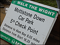 Walk the Wight check point