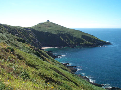 Looking toward Rame head
