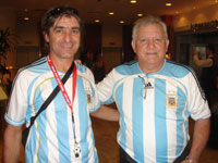 A group of Argentinian supporters