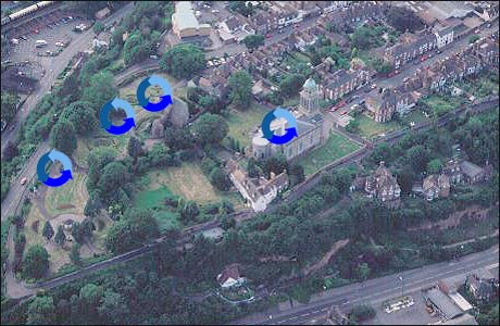 Bridgnorth from the air. Picture: Clwyd-Powys Archaeological Trust ...: www.bbc.co.uk/shropshire/panoramic/bridgnorth