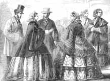 Image showing women's fashions of the 1850s