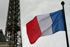 The Eiffel Tower and the French flag