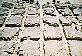 A quarry floor showing quarrying marks made by the ancient Egyptians