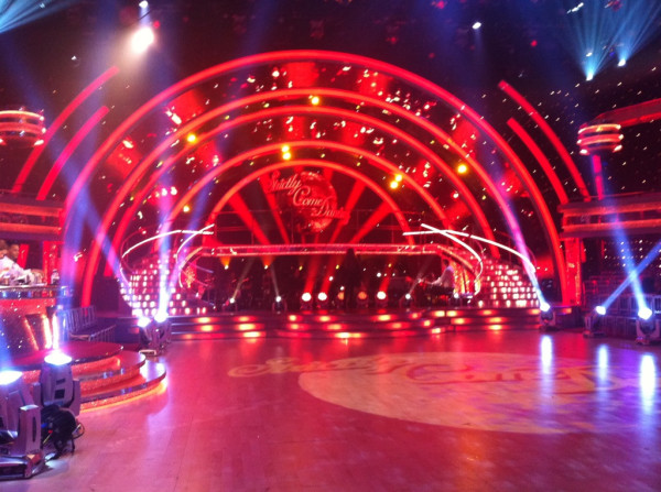 The dancefloor is ready for rehearsals