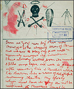 A letter from someone claiming to be Jack the Ripper