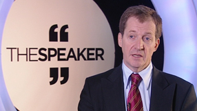 speaker mentor alastair campbell being interviewed
