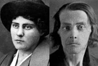Two photographs of Sophia Petrova before and during the siege of Leningrad