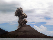 Krakatoa in the Sunda Strait, Indonesia