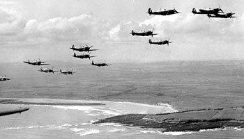 Spitfires on patrol during the Battle of Britain, May 1941