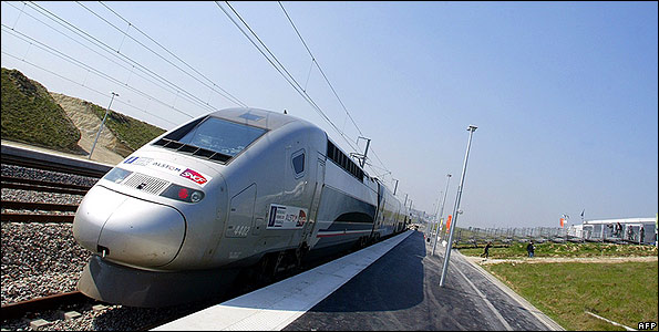 French TGV high-speed train - file pic