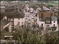 A view of Malmesbury High Street