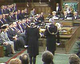 Image of the Black Rod ceremony during the State Opening of Parliament