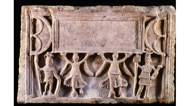 Roman distance slab of the Sixth Legion