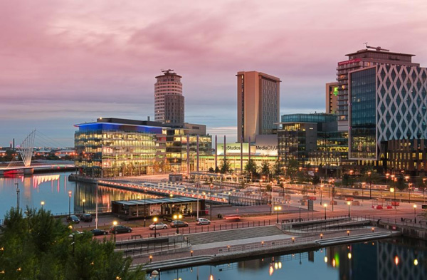 The BBC's new offices at MediaCityUK in Salford Quays