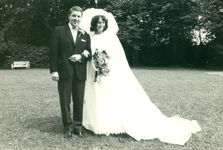 Roy and his wife Elaine on their wedding day