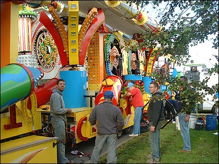 Setup of Bridgwater Guy Fawkes Carnival 2005
