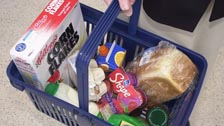 A shopping basket full of goods