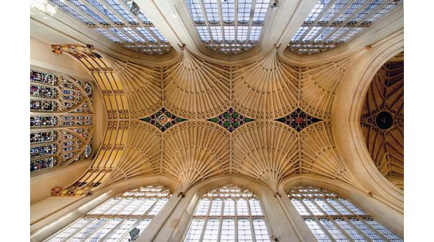 The Vaulted Ceiling Of Bath Abbey