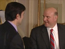 Robert Peston with Steve Ballmer