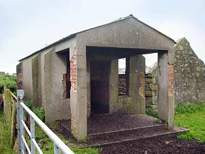 The sort of guardroom that would have been at the entrance of scores of camps all over Northern Ireland