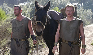 Pullo and Vorenus, the two central foot-soldiers in Rome