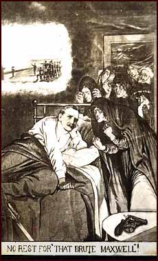 Image of a postcard depicting General Maxwell's nightmare