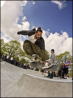 Ian Jennings helped to build the skatepark