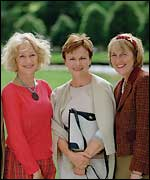 Helen Mirren, Julie Walters and original calendar girl Angela Barker