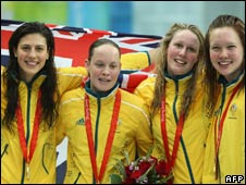Australia's 200m freestyle relay gold medal winners