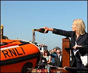 Duchess of Kent names Whitby's inshore lifeboat