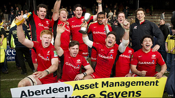 Saracens triumphed at this year's Melrose Sevens