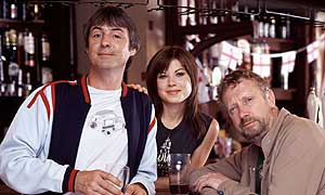 Neil Morrissey as Barry, Sarah Quintrelll as Sinead and Mark Williams as Kirk