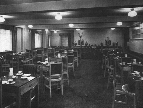 Coffee rooms at Tyneside Theatre, c 1937