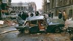 The remains of an IRA car bomb outside the Old Bailey in London, 8 March 1973 (Getty Images)