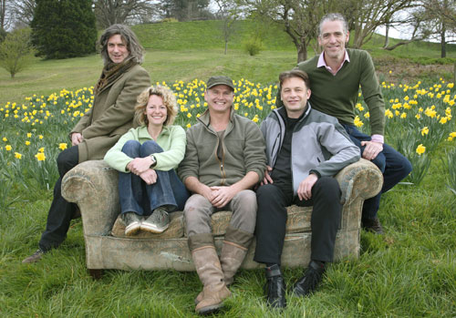 Martin, Kate, Simon, Chris and Gordon on the Springwatch sofa