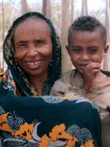 Beyanch Ali and her grandson