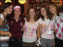 Students at the Pub Golf Fancy Dress night