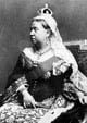 Black and white photograph showing Queen Victoria