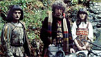 Gareth Armstrong, Tom Baker and Elisabeth Sladen in a scene from the episode The Masque Of Mandragora