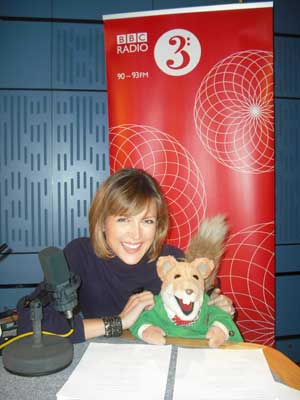 Picture of Katie Derham with Basil Brush. Photo: Philip Mattison