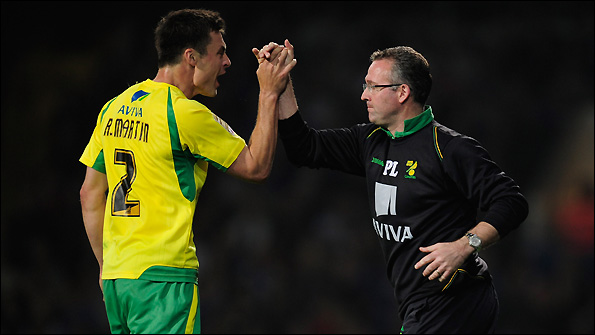 Russell Martin (left) and manager Paul Lambert.