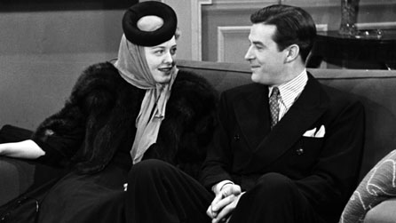Black and white photograph of Ray Milland with Ellen Drew on BBC production Picture Page in 1939